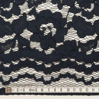 コットン&レーヨン混×フラワー(ダークネイビー)×ラッセルレース サムネイル6