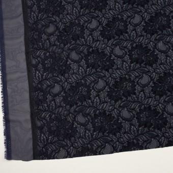 ポリエステル&レーヨン混×フラワー(ネイビー)×ラッセルレース&ジョーゼット サムネイル2