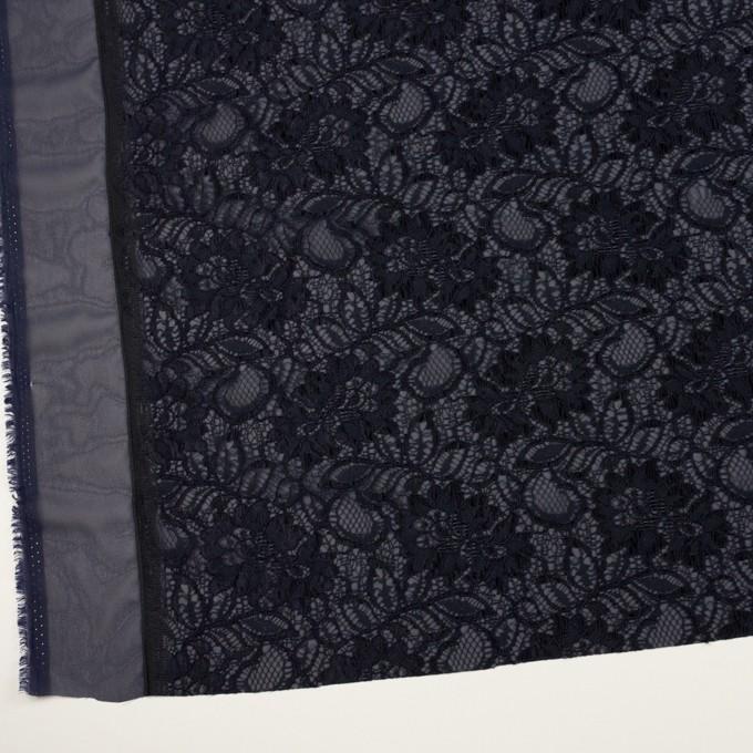 ポリエステル&レーヨン混×フラワー(ネイビー)×ラッセルレース&ジョーゼット イメージ2
