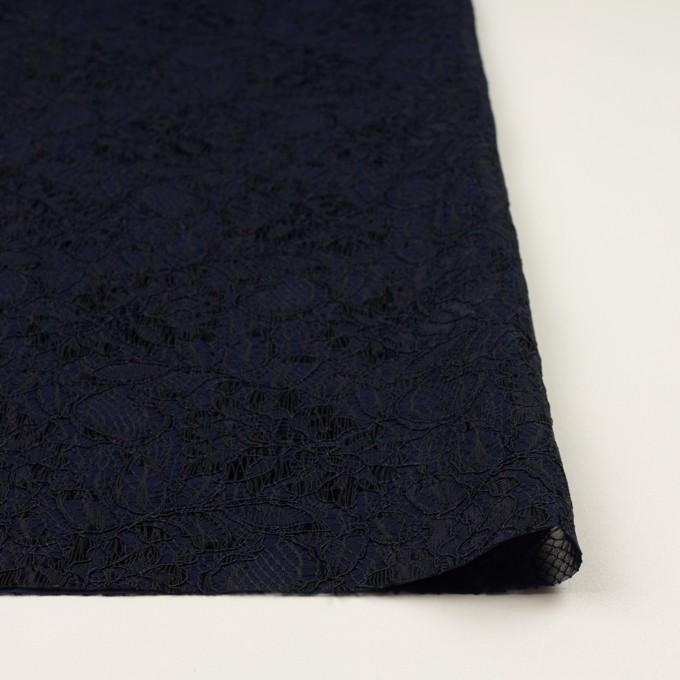 ポリエステル&レーヨン混×フラワー(ネイビー)×ラッセルレース&ジョーゼット イメージ3
