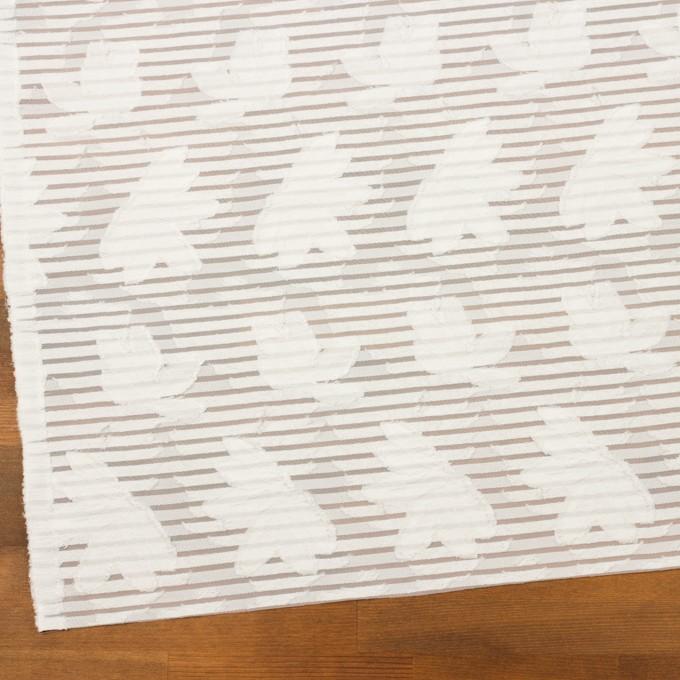 ナイロン&レーヨン混×フラワー&ボーダー(ミルク)×オーガンジー・カットジャガード_全2色 イメージ2
