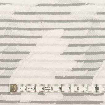 ナイロン&レーヨン混×フラワー&ボーダー(ミルク)×オーガンジー・カットジャガード_全2色 サムネイル4