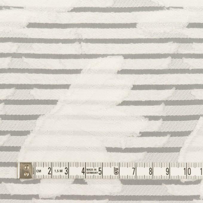 ナイロン&レーヨン混×フラワー&ボーダー(ミルク)×オーガンジー・カットジャガード_全2色 イメージ4