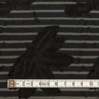 ナイロン&レーヨン混×フラワー&ボーダー(ブラック)×オーガンジー・カットジャガード_全2色 サムネイル4