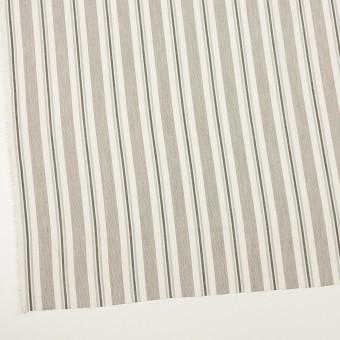 コットン&レーヨン×ストライプ(チャコール&スレートグレー)×ジャガード サムネイル2