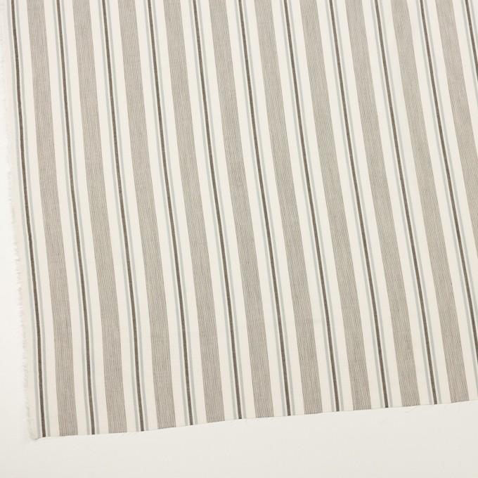 コットン&レーヨン×ストライプ(チャコール&スレートグレー)×ジャガード イメージ2