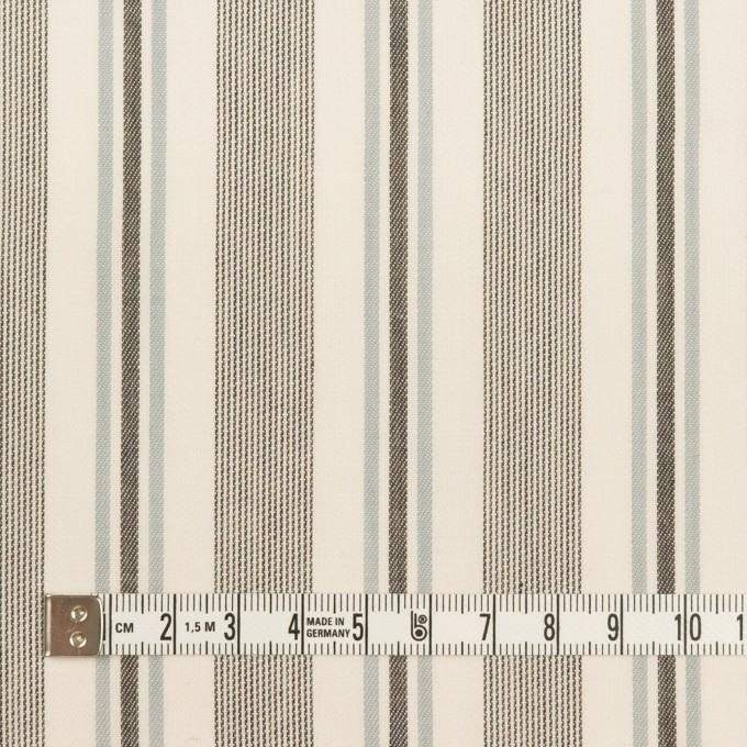 コットン&レーヨン×ストライプ(チャコール&スレートグレー)×ジャガード イメージ4