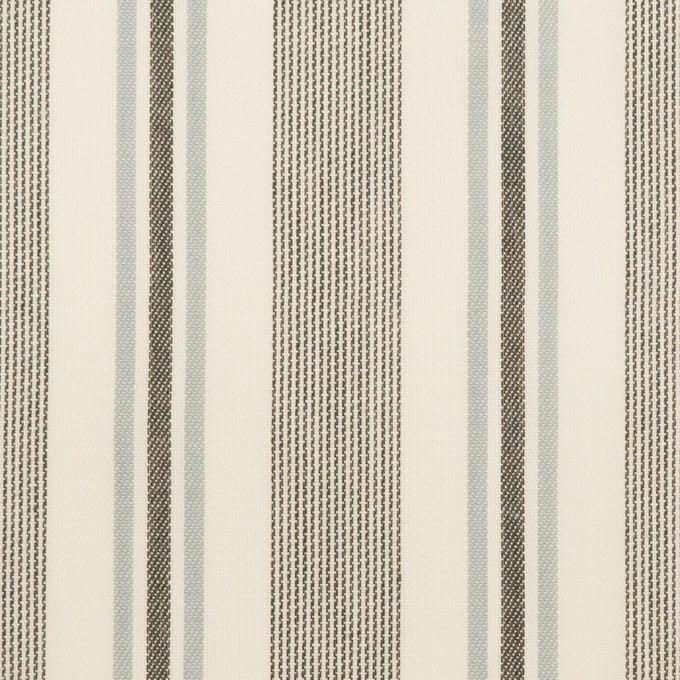 コットン&レーヨン×ストライプ(チャコール&スレートグレー)×ジャガード イメージ1