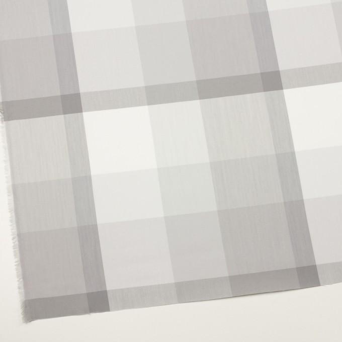 コットン&ナイロン×チェック(ストーングレー&グレー)×ブロード イメージ2