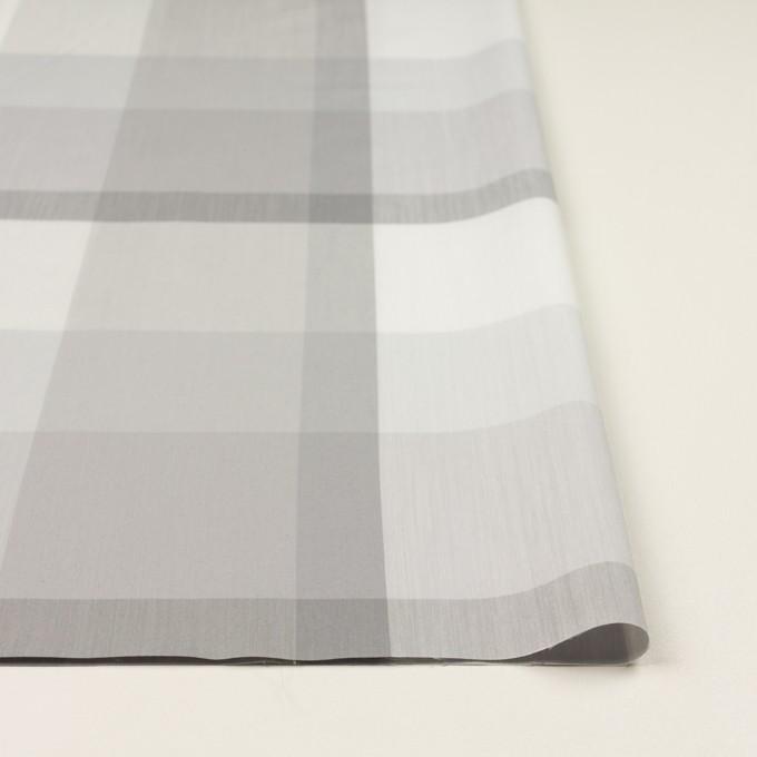コットン&ナイロン×チェック(ストーングレー&グレー)×ブロード イメージ3