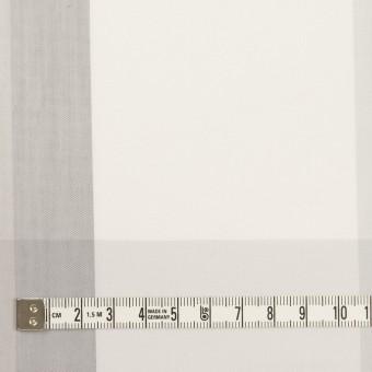コットン&ナイロン×チェック(ストーングレー&グレー)×ブロード サムネイル4