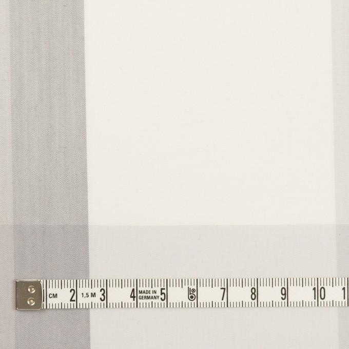 コットン&ナイロン×チェック(ストーングレー&グレー)×ブロード イメージ4