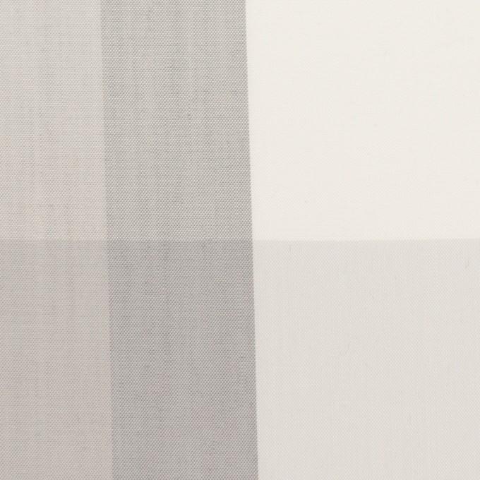 コットン&ナイロン×チェック(ストーングレー&グレー)×ブロード イメージ1