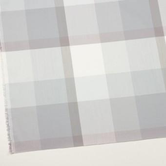 コットン&ポリエステル×チェック(グレー&グレイッシュパープル)×ブロード サムネイル2