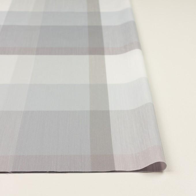 コットン&ポリエステル×チェック(グレー&グレイッシュパープル)×ブロード イメージ3