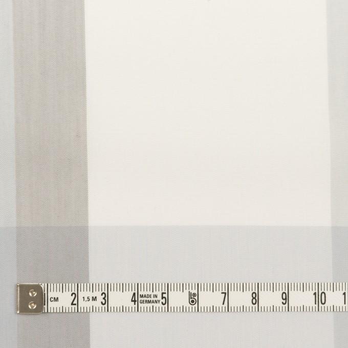 コットン&ポリエステル×チェック(グレー&グレイッシュパープル)×ブロード イメージ4