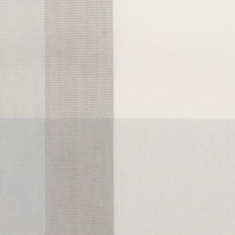 コットン&ポリエステル×チェック(グレー&グレイッシュパープル)×ブロード サムネイル1