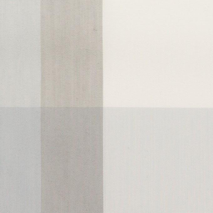 コットン&ポリエステル×チェック(グレー&グレイッシュパープル)×ブロード イメージ1