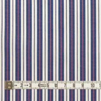 コットン×ストライプ(プルシアンブルー&ピンク)×ブロード サムネイル4