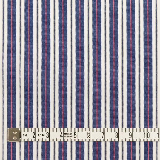 コットン×ストライプ(プルシアンブルー&ピンク)×ブロード イメージ4