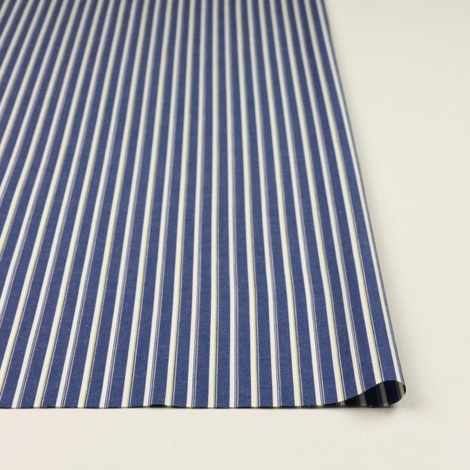 コットン×ストライプ(プルシアンブルー&グリーン)×ブロード イメージ3