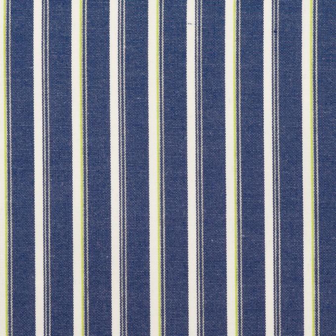 コットン×ストライプ(プルシアンブルー&グリーン)×ブロード イメージ1