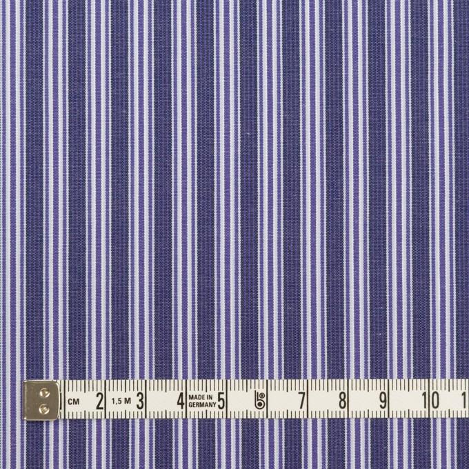 コットン×ストライプ(プルシアンブルー&グレープ)×ブロード イメージ4