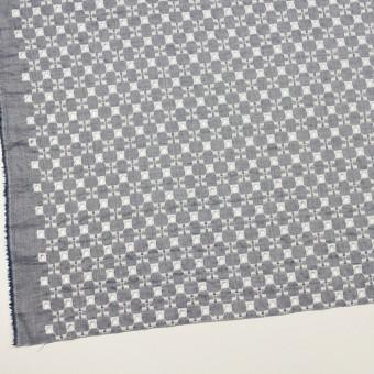コットン&テンセル×幾何学模様(アッシュネイビー)×ローン刺繍 サムネイル2