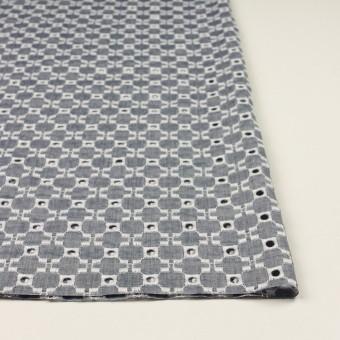 コットン&テンセル×幾何学模様(アッシュネイビー)×ローン刺繍 サムネイル3