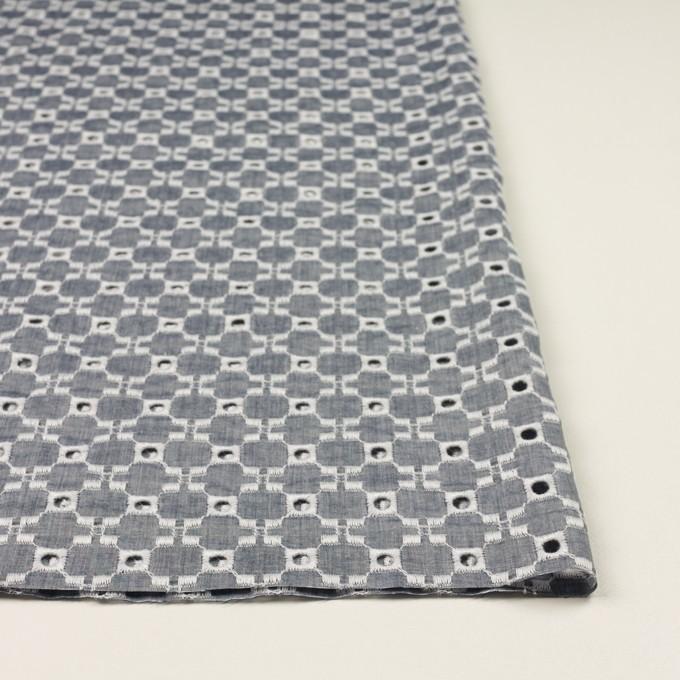 コットン&テンセル×幾何学模様(アッシュネイビー)×ローン刺繍 イメージ3
