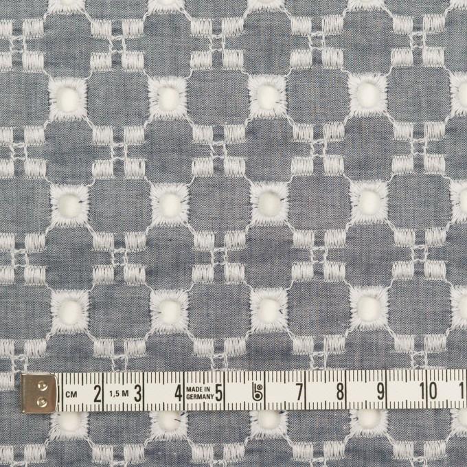 コットン&テンセル×幾何学模様(アッシュネイビー)×ローン刺繍 イメージ4