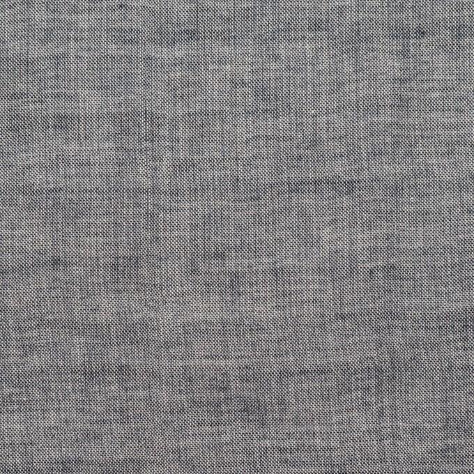 コットン&ポリウレタン×無地(アッシュネイビー)×シャンブレーボイル・シャーリング イメージ1