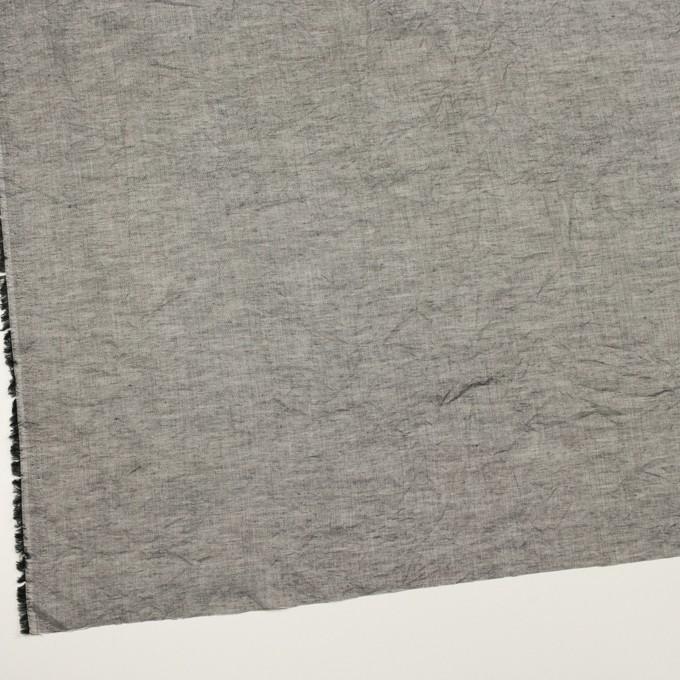 コットン&リネン×無地(チャコールグレー)×シャンブレーボイル・ワッシャー イメージ2
