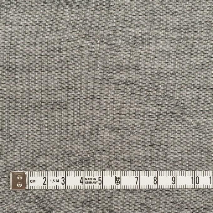 コットン&リネン×無地(チャコールグレー)×シャンブレーボイル・ワッシャー イメージ4