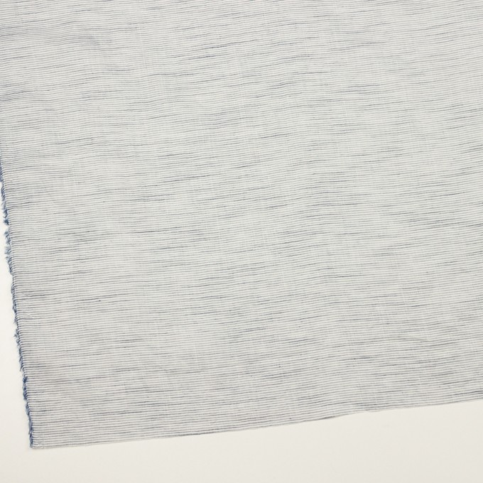 コットン&リネン×ボーダー(ネイビー)×ボイルワッシャー_全2色 イメージ2