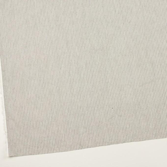 コットン&リネン×ストライプ(チャコールグレー)×ボイル イメージ2
