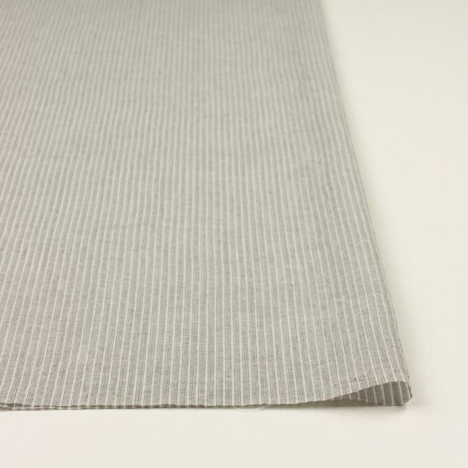 コットン&リネン×ストライプ(チャコールグレー)×ボイル イメージ3