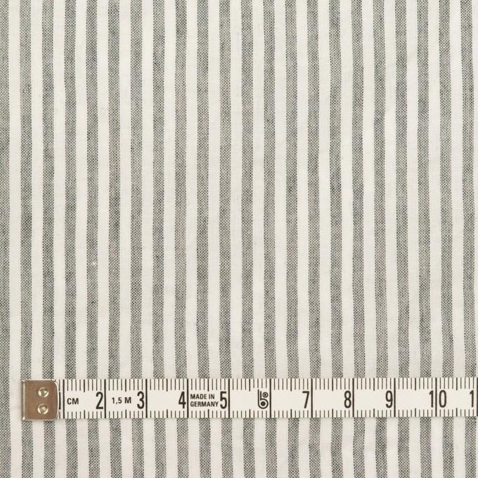 コットン×ストライプ(チャコール)×ガーゼ イメージ4