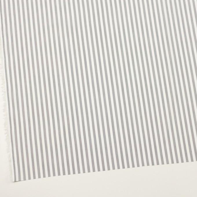 コットン&レーヨン×ストライプ(チャコール)×ブロード イメージ2