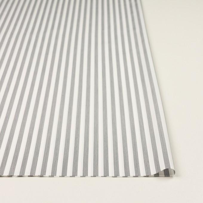 コットン&レーヨン×ストライプ(チャコール)×ブロード イメージ3
