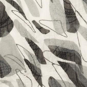 コットン×ペイント(グレー)×ボイル刺繍