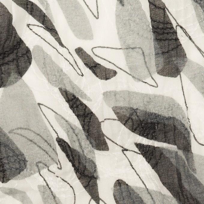 コットン×ペイント(グレー)×ボイル刺繍 イメージ1