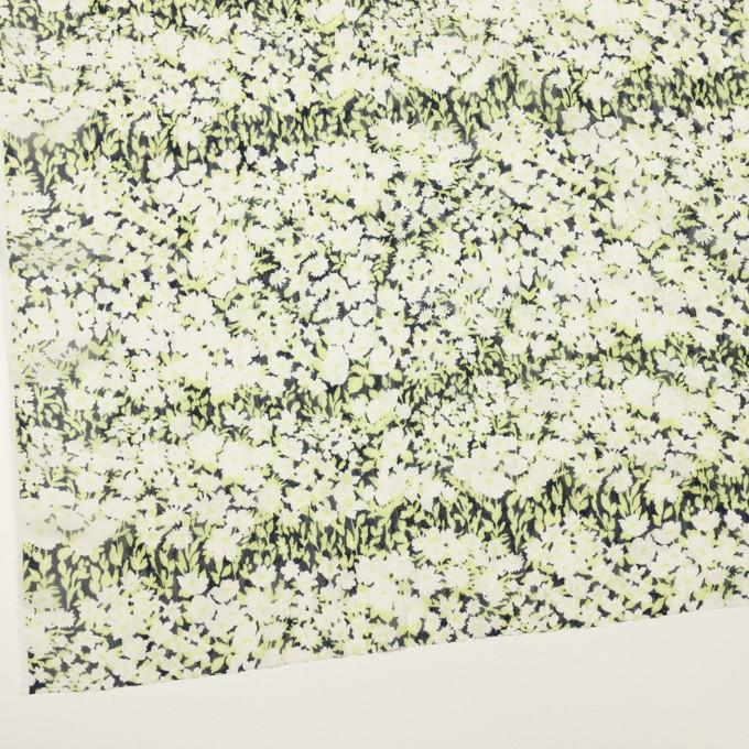 ポリエステル×フラワー(ライムグリーン)×ジョーゼット刺繍_全3色 イメージ2