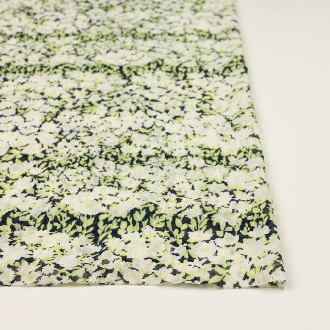 ポリエステル×フラワー(ライムグリーン)×ジョーゼット刺繍_全3色 イメージ3