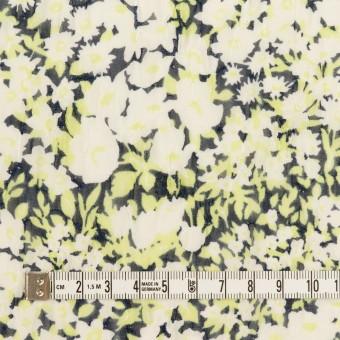 ポリエステル×フラワー(ライムグリーン)×ジョーゼット刺繍_全3色 サムネイル4