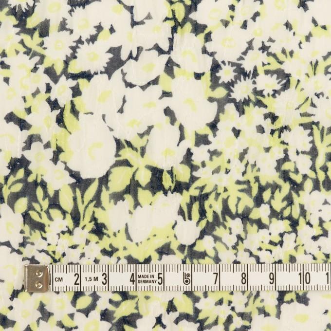 ポリエステル×フラワー(ライムグリーン)×ジョーゼット刺繍_全3色 イメージ4