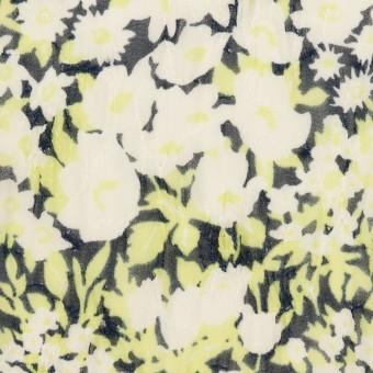 ポリエステル×フラワー(ライムグリーン)×ジョーゼット刺繍_全3色