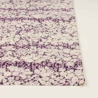ポリエステル×フラワー(モーブ)×ジョーゼット刺繍_全3色 サムネイル3