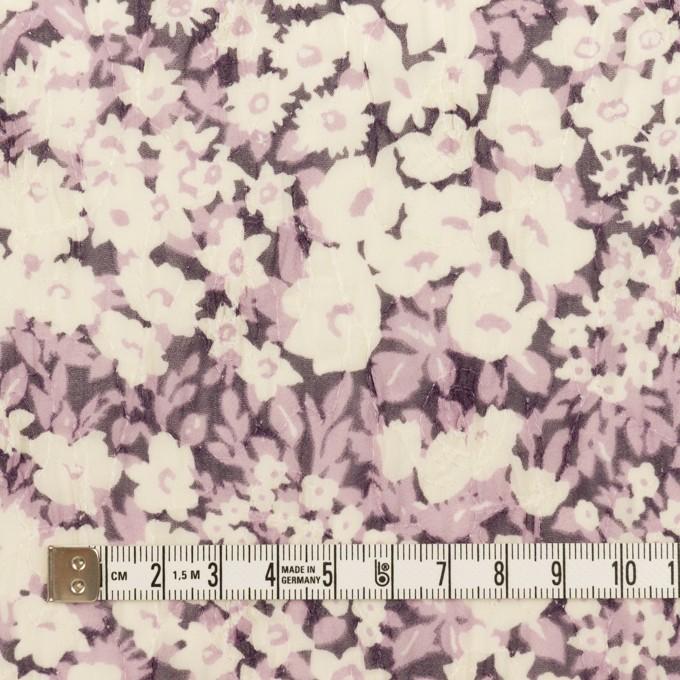 ポリエステル×フラワー(モーブ)×ジョーゼット刺繍_全3色 イメージ4