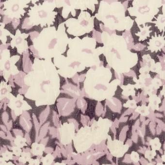ポリエステル×フラワー(モーブ)×ジョーゼット刺繍_全3色